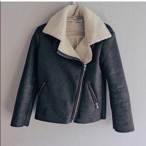 Glamorous Jackets & Coats - Shearling Moto Jacket